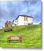 Canons On The Hill Above Tenby Wales Metal Print