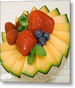 Cantaloupe Breakfast Metal Print
