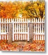 Canterbury Shaker Village Picket Fence  Metal Print