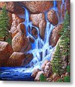 Canyon Cascade Metal Print