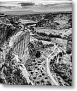 Canyon De Chelly Navajo Nation Chinle Arizona Black And White Metal Print