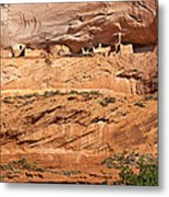 Canyon Dechelly Pueblo Ruins Metal Print