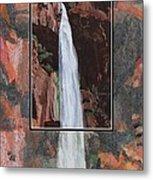 Canyon Falls Metal Print