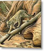 Canyon Hunter -  Cougar Metal Print