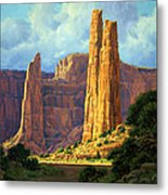 Canyon Light Metal Print by Randy Follis