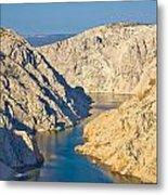 Canyon Of Zrmanja River In Croatia Metal Print