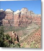 Canyon Overview Zion Park Metal Print