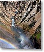 Canyon Rainbow Metal Print