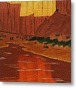 Canyon Reflection Metal Print