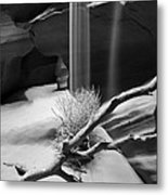 Canyon Sandfall Metal Print