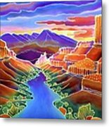 Canyon Sunrise Metal Print