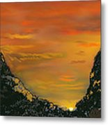 Canyon Sunrise Update Metal Print