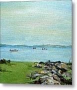 Cape Cod  Boats Metal Print