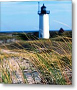 Cape Cod Lighthouse In Prowincetown  At  Summer Time Metal Print