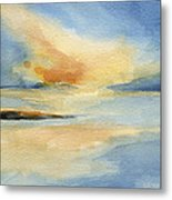 Cape Cod Sunset Seascape Painting Metal Print