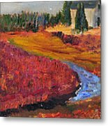 Cape Cranberry Bog In Season Metal Print