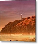 Cape Disappointment After The Storm Metal Print