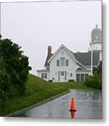 Cape Elizabeth On A Rainy Day- Maine Metal Print