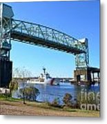 Cape Fear Draw Bridge  Metal Print