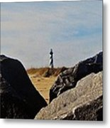 Cape Hatteras Lighthouse Rocks 2 11/22 Metal Print
