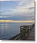 Cape Kennedy At Sunset Metal Print