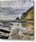Cape Kiwanda And Haystack Rock Metal Print