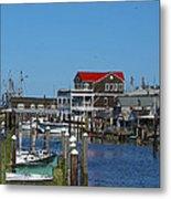 Cape May Harbor Metal Print