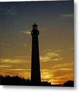 Cape May Lighthouse At Sunset Metal Print
