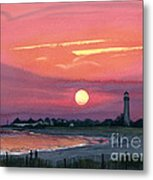 Cape May Sunset Metal Print