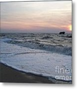 Cape May Sunset Beach Nj Metal Print