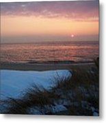 Cape May Twilight In February Metal Print