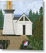 Cape Meares Lighthouse April 2013 Metal Print by Anne Norskog