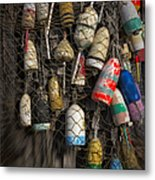 Cape Neddick Lobster Buoys Metal Print