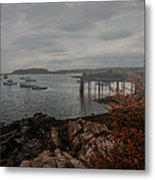 Cape Porpoise Maine - Fog Rolls In Metal Print by Bob Orsillo