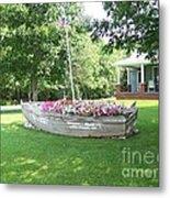 Cape Vincent Flowerboat Metal Print by Kevin Croitz