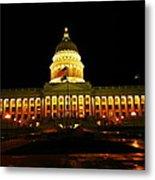 Capital Building In Utah Salt Lake City Metal Print