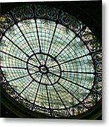 Capital Building Stained Glass  Metal Print