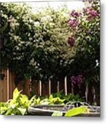 Capitol Hill Secret Garden Metal Print