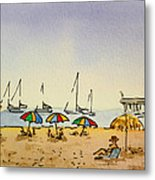 Capitola - California Sketchbook Project  Metal Print