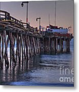 Capitola Wharf At Dusk Metal Print