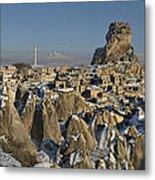 Cappadocia In Winter Metal Print