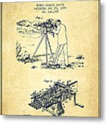 Capps Machine Gun Patent Drawing From 1899 - Vintage Metal Print