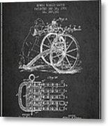 Capps Machine Gun Patent Drawing From 1902 - Dark Metal Print