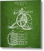 Capps Machine Gun Patent Drawing From 1902 - Green Metal Print