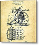 Capps Machine Gun Patent Drawing From 1902 - Vintage Metal Print
