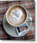 Cappuccino Love Metal Print