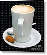 Cappuccino With An Amaretti Biscuit Metal Print by Terri Waters