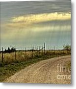 Caprock Canyon-country Road Metal Print