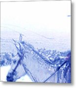 Capt. Call In A Snow Storm Metal Print