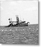 Capt. Jamie - Shrimp Boat - Bw 01 Metal Print